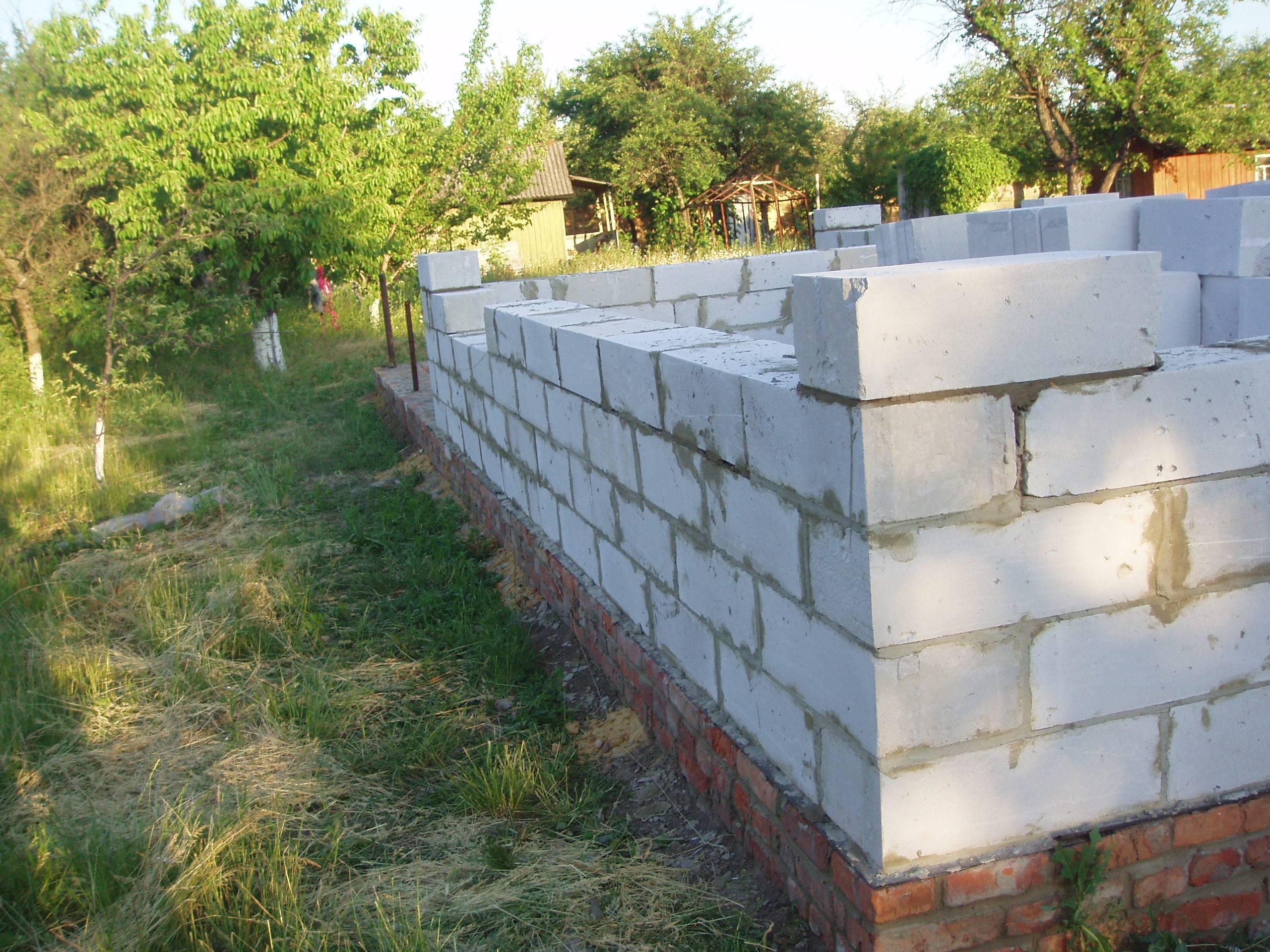 Строительство дома своими руками фото фундамент