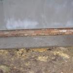 фото - изготовление цоколя своими руками. Цоколь, утопленный относительно стены. Западающий цоколь