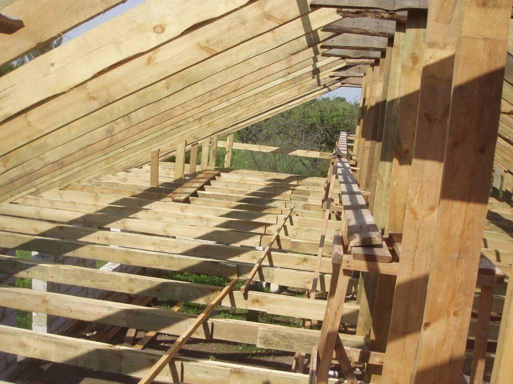 Схема стропильная стена крепится на балку