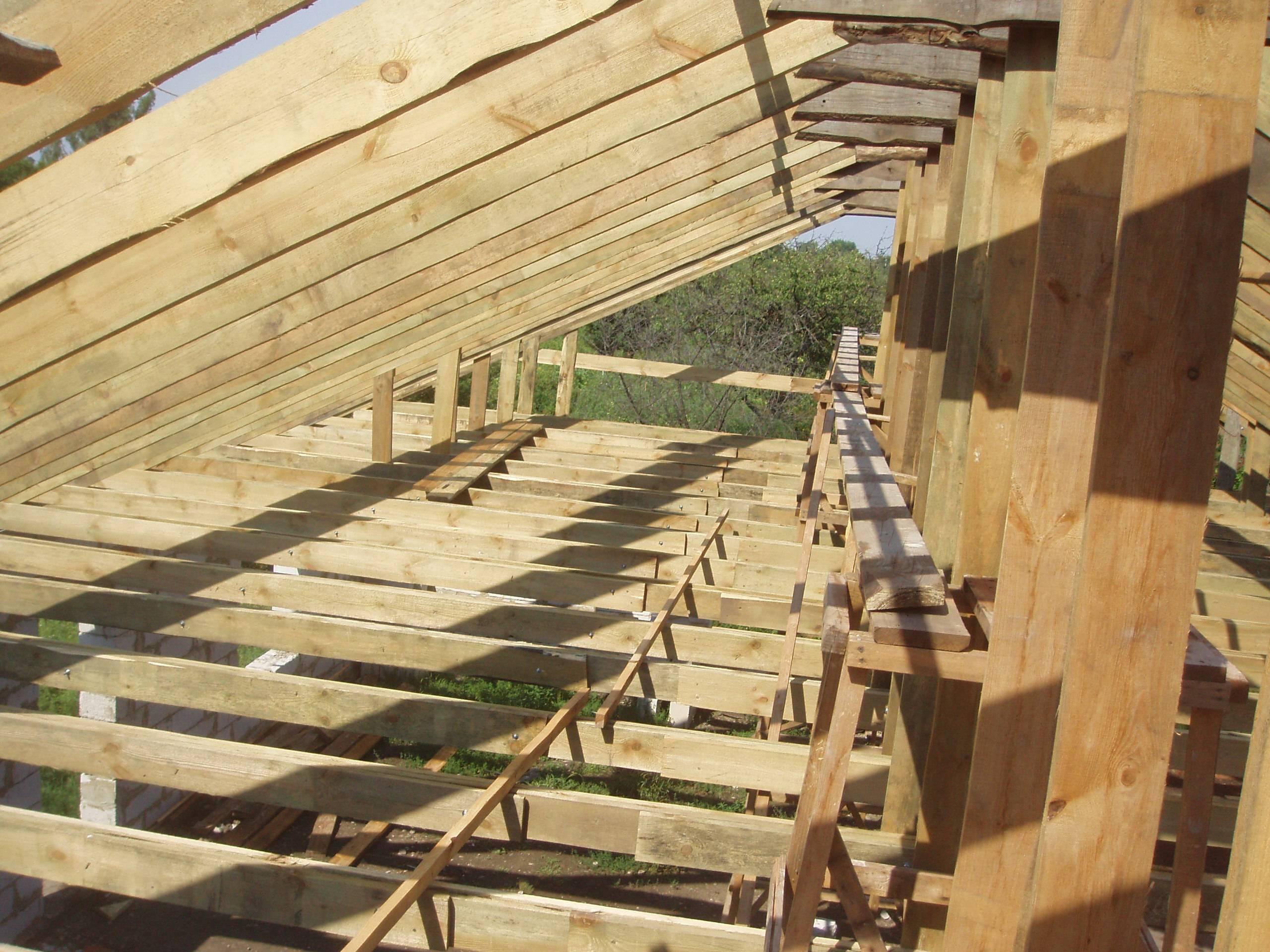 Двухскатная крыша сарая своими руками: как построить самому 9
