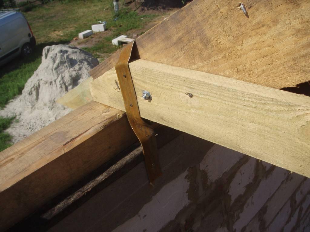 как сделать крышу, двускатная крыша, как построить дом