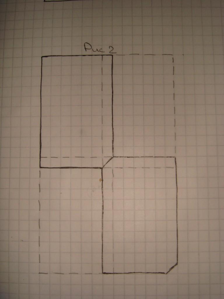 рисунок показывает правила укладки шифера с учетом обрезки углов листов