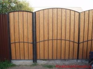 фото - как правильно сделать распашные ворота