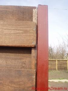 фото - этапы изготовления деревянного забора