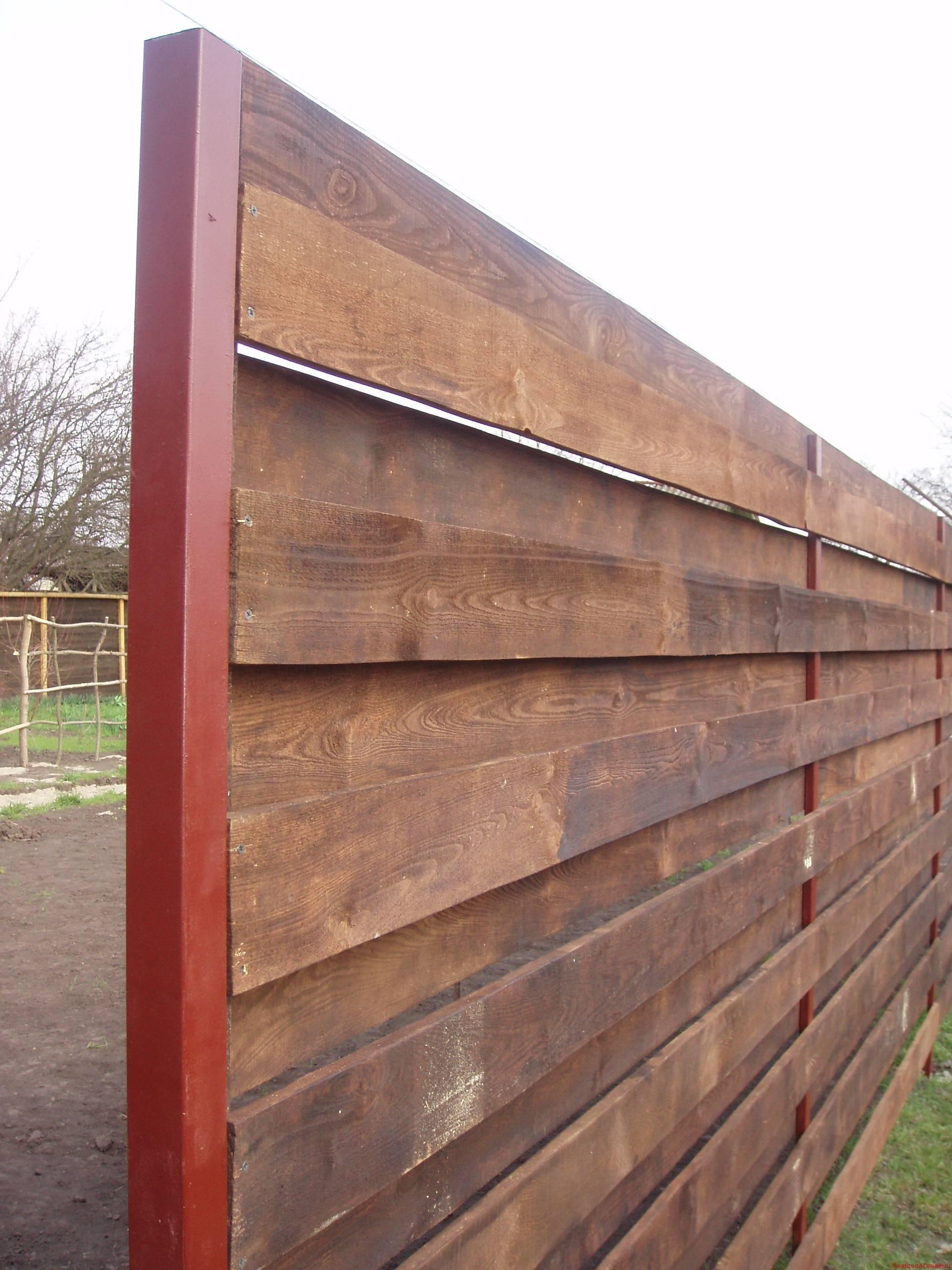 Забор с дерева для дома фото