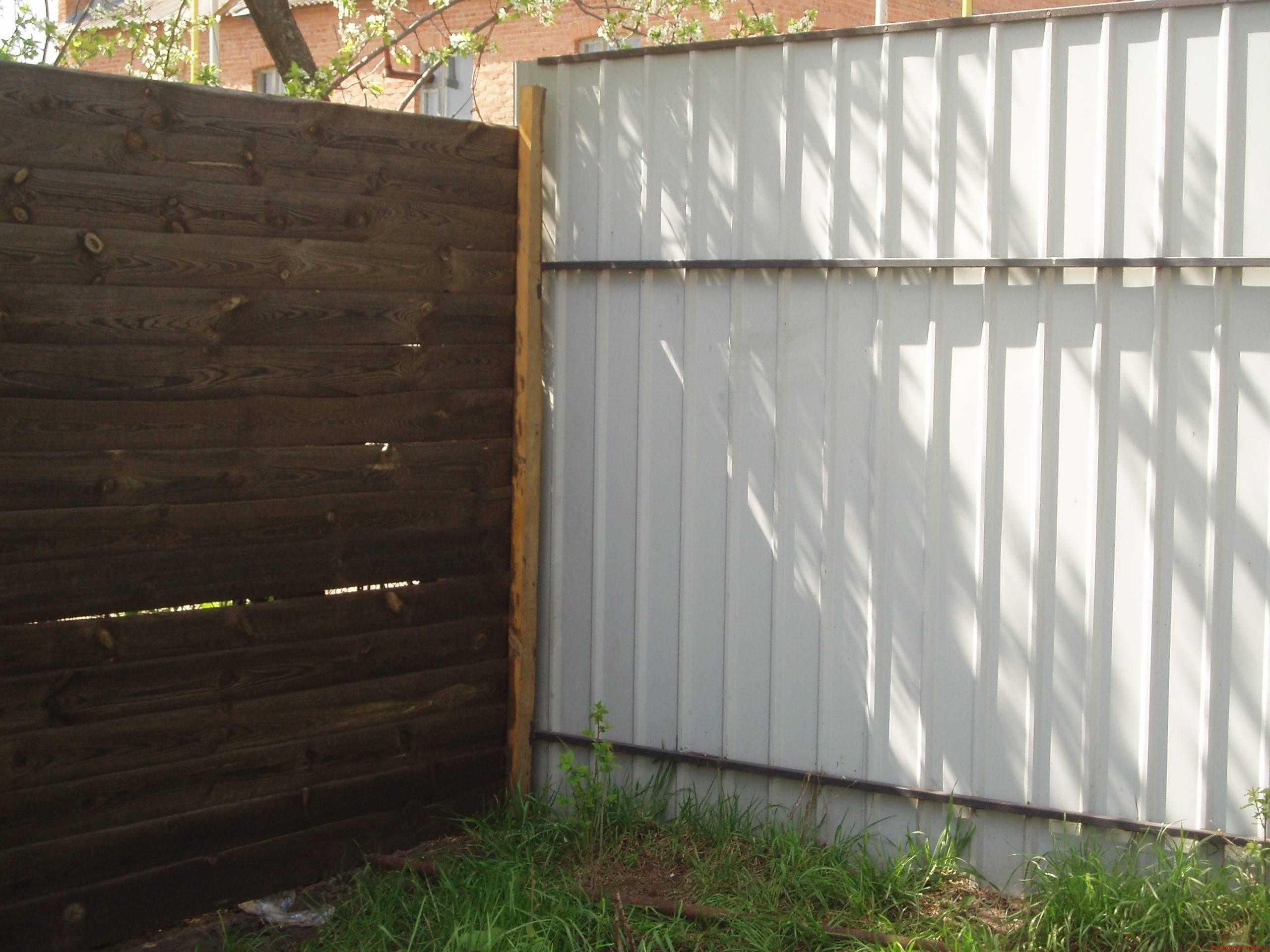 Фото забор из профнастила и забор из